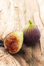 Figs delicious couple of over a table Royalty Free Stock Photography