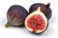 Figs fresh isolated on white Royalty Free Stock Images