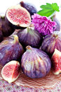 Figs fruit fresh juicy on a plate Royalty Free Stock Images