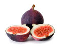 Figs fruits on white background Royalty Free Stock Photo