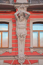 Figure of Atlases Palace of princes Beloselsky - Belozersky in Saint Petersburg, Russia Royalty Free Stock Photo
