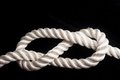 Figure-eight knot Royalty Free Stock Photo