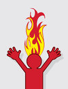 Figure head on fire with Royalty Free Stock Photography