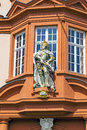 Figure of a knight at the entrance gutenberg museum in mainz germany Royalty Free Stock Image