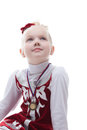 Figure skater won third place in competition portrait of Stock Photo