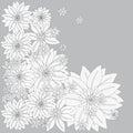 Figure vector illustration natura flowers Royalty Free Stock Photo