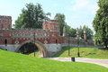 Figured bridge in tsaritsyno moscow fragment the state of historical and architectural museum reserve Royalty Free Stock Images