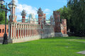Figured bridge in tsaritsyno moscow the state of historical and architectural museum reserve Royalty Free Stock Photography