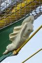 Figurehead on barque alexander von humboldt ii the german three masted Stock Photo