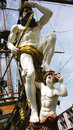 Figurehead of of a pirate ship genoa italy Stock Photos