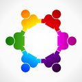 Figures abstract form as symbol for teamwork and diversity Royalty Free Stock Photo