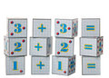 Figures on cubes Royalty Free Stock Photo