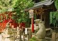 Figures at Otoyo Shrine Royalty Free Stock Photo