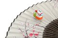 Figurine of horse the and a japanese folding fan japanese customs Royalty Free Stock Photography