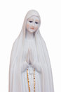 Figurine of mother mary praying holding her hands together isolated on a white background Royalty Free Stock Photography