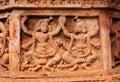 Figurines made of terracotta bishnupur india at madanmohan temple west bengal Stock Photos