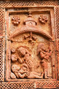 Figurines made of terracotta bishnupur india at madanmohan temple west bengal Stock Images