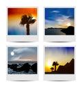 Fije los marcos de la foto con las playas Fotografía de archivo libre de regalías