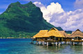 Fiji Island Huts Royalty Free Stock Photo
