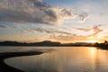 Fiji sunrise at a beach vita levu island Royalty Free Stock Images