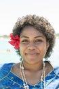 Fijian woman with Hibiscus Bloom