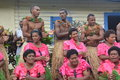 Fijian singers an ensemble of native fijians singing songs Royalty Free Stock Image