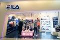 Fila shop in hong kong located k mall tsim sha tusi is a clothes retailer Royalty Free Stock Image