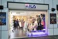 Fila shop in hong kveekoong located tsim sha tsui kong is a clothes retailer kong Royalty Free Stock Image
