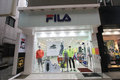 Fila shop in south korea located seoul is a clothes retailer Stock Image