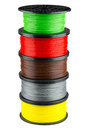 Filament coils for 3d print Royalty Free Stock Photo