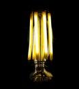 Filament led lamp macro shot of new generation Royalty Free Stock Photo