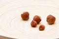 Filbert Nuts On A Dish Royalty Free Stock Photo