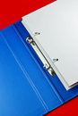 File blue open with white blank pages Stock Photo