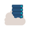 File cabinet into the cloud Royalty Free Stock Photo