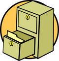 File cabinet drawer and folder vector illustration Royalty Free Stock Photo