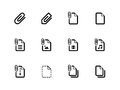 File clip icons on white background vector illustration Stock Photo