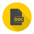 File Doc icon with long shadow