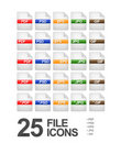 File and Document Icons Royalty Free Stock Photos