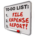 File Expense Report Words To Do List Reminder Board Royalty Free Stock Photo