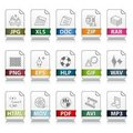 File extension icons Stock Photos
