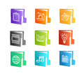 File Folder Colorful Icon Set. Vector Royalty Free Stock Photo