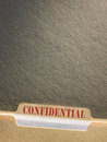 File folder confidential on background Royalty Free Stock Image