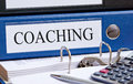 File folder marked coaching Stock Images