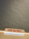 File folder top secret on background Stock Photo