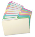 File Folders Fanned Royalty Free Stock Photo