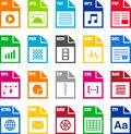 File format icons Royalty Free Stock Photo