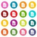 File format icons many colors set