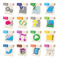 File format icons set, cartoon style