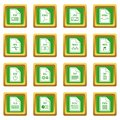File format icons set green