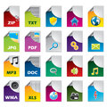 File icon set of twenty Royalty Free Stock Photo